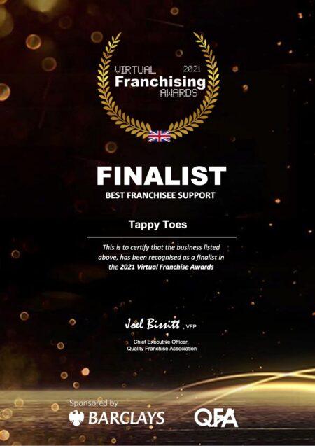 franchise award best franchisee support